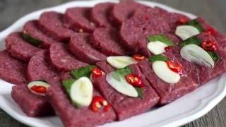 Cách làm NEM CHUA chuẩn vị (công thức) - Vietnamese fermented sausage recipe