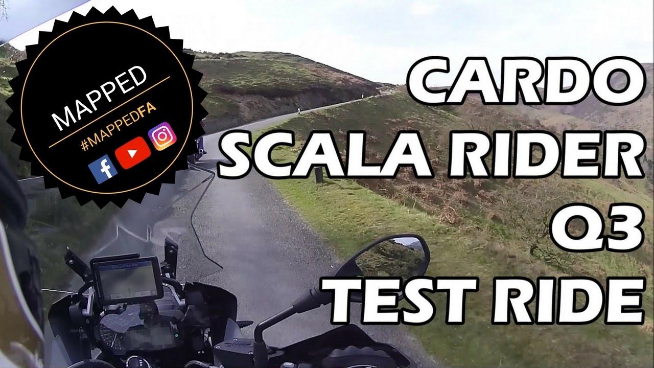 mapped cardo scala rider q3 test ride youtube. Black Bedroom Furniture Sets. Home Design Ideas