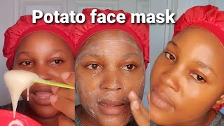 DIY POTATO FACE MASK To remove dark spots dark circles wrinkles acne scars Glam By Ben