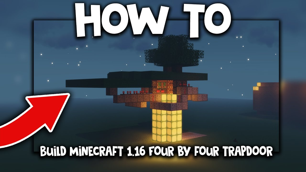 How To Build Minecraft 1.16 Trapdoor (4x4 Piston)