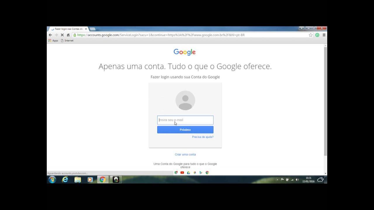 Como Criar Uma Conta No Google (2016)
