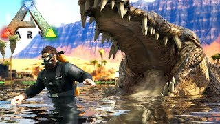 Download Video Caçadores De CROCODILO, FUJA Da ÁGUA!!! - ARK Survival Evolved | Dinossauros (#20) (PT-BR) MP3 3GP MP4