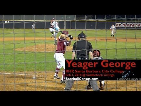 Yeager George, RHP, Santa Barbara City College
