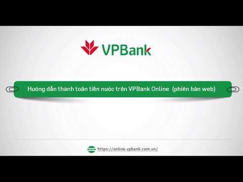 Hướng Dẫn Thanh Toán Tiền Nước Trên VPBank Online (web)