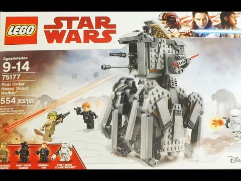 "Thumbnail: LEGO ""Star Wars: The Last Jedi"" First Order Heavy Scout Walker UNBOXING / BUILD / REVIEW"