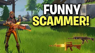 dumb funny kid almost scammed me! 😂 (Scammer Get Scammed) Fortnite Save The World