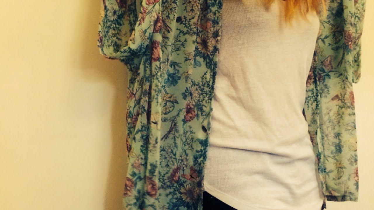 Fashion week Diy kimono-style tutorial: jacket for girls