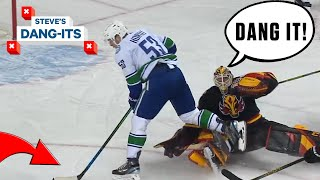 NHL Worst Plays Of The Week: AGGRESSIVE GOALIE!!! | Steve's Dang-Its