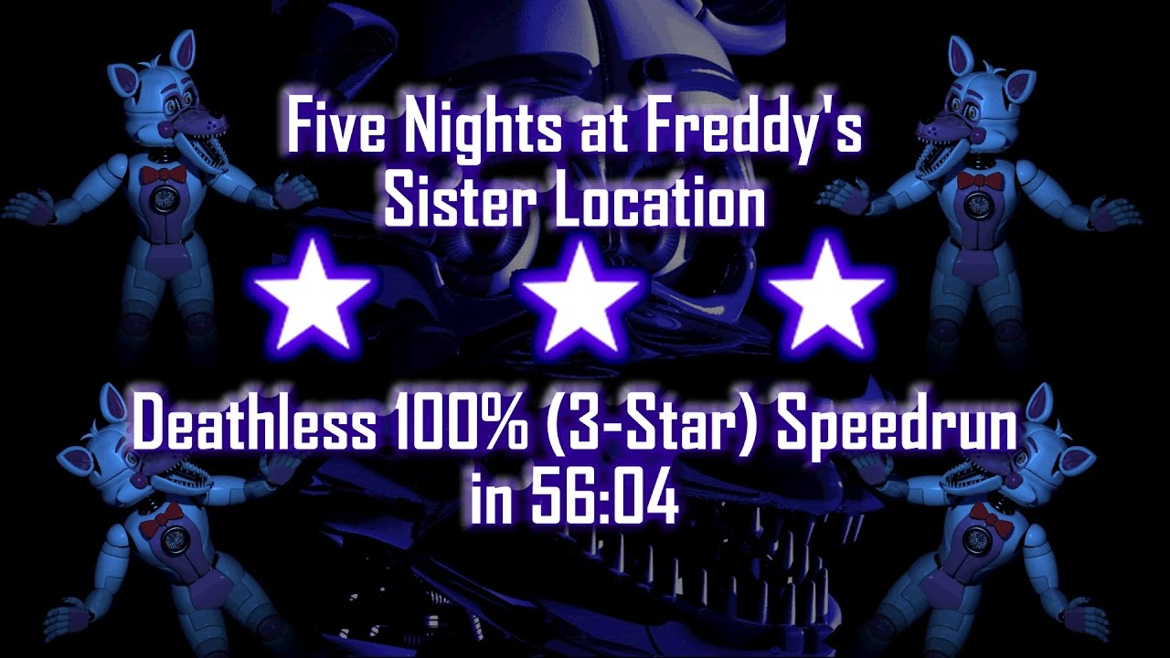 Download Five Nights at Freddy's: Sister Location   Perfect 100% No-Glitch 3-Star Flawless Speedrun in 56:04