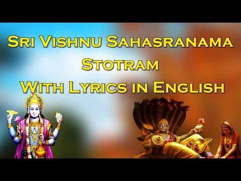 Sri Vishnu Sahasranama Dhyaana Stotram | With Lyrics in English | T S Ranganathan