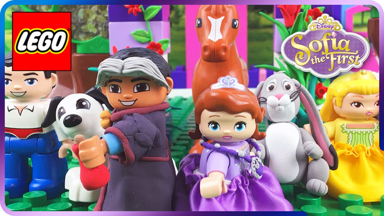 lego sofia the first broken amulet amp flower tea party