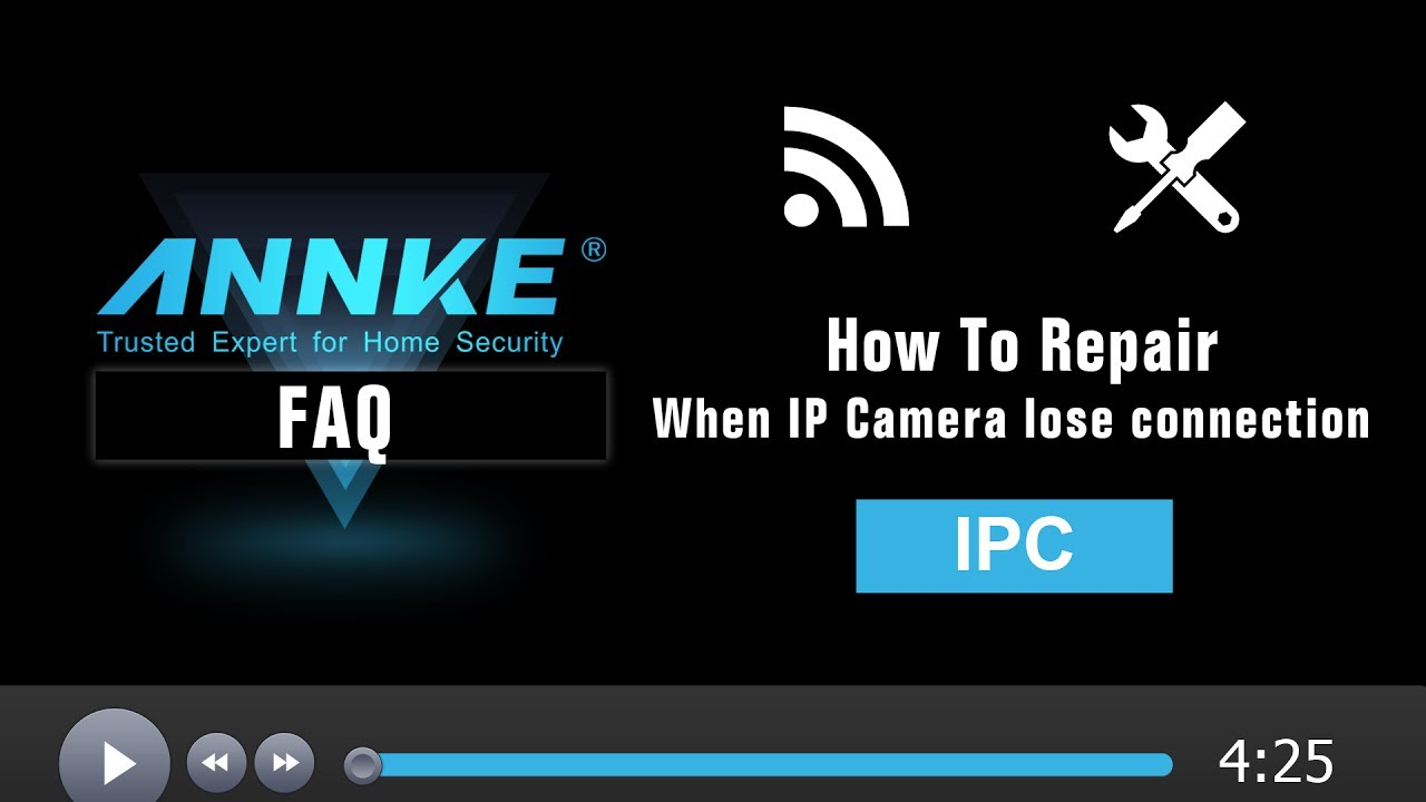 How to repair when IP camera loses connection to NVR
