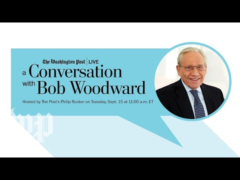 "Bob Woodward on his new book, ""Rage"" (Full Stream 9/15)"