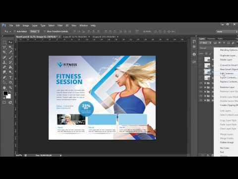 Business Flyer Template - Photoshop Tutorial