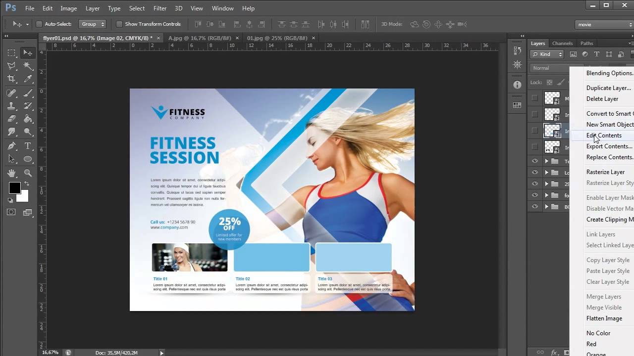 Business Flyer Template - Photoshop Tutorial - YouTube