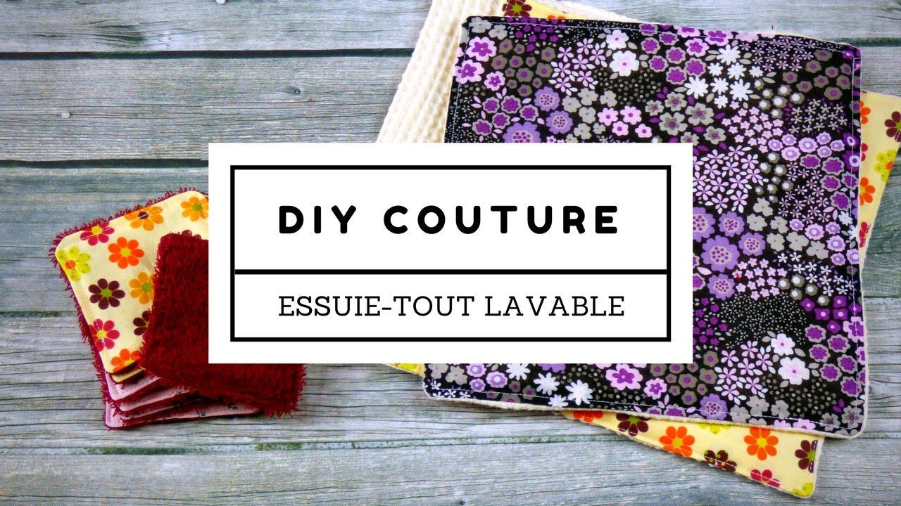 Fabriquer Un Porte Essuie Tout tuto couture : le sopalin et les lingettes lavables 0 déchet !