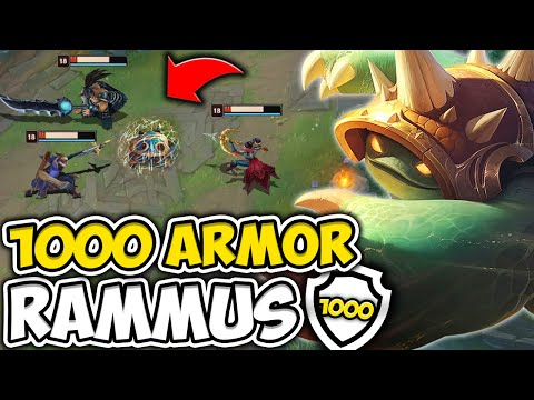 WHEN RAMMUS HITS 1000 ARMOR AND MAKES YOU ONE SHOT YOURSELF - League of Legends