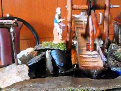 Cascata mulino presepe meccanico di g a la rocca for Laghetto fai da te economico