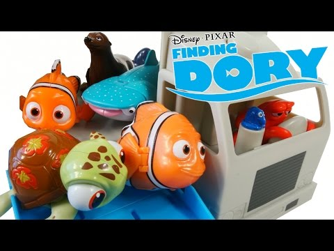 FINDING DORY MOVIE HANK TRUCK HAULER PLAYSET TRACK SWIGGLEFISH RACERS
