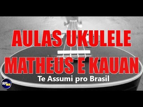 Te Assumi Pro Brasil - Matheus e Kauan - Aula Ukulele Tutorial Ukulele  UKFT COLLAB