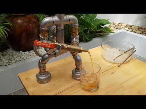 Barmen whiskey dispenser