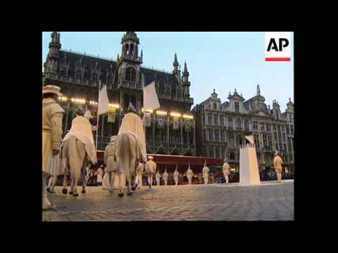 "BELGIUM: BRUSSELS: ""OMMEGANG"" FESTIVAL: HUMAN CHESS GAME"