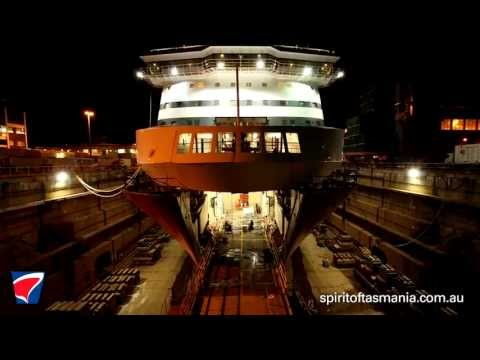 Spirit of Tasmania - Dry dock, Sydney 2013