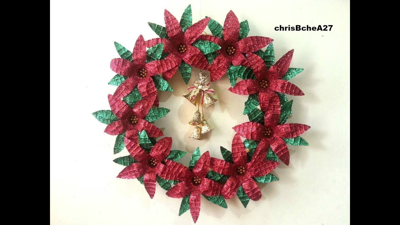 Diy 52 xmas wreath from recycled materials best out of for Recycled decoration