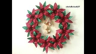 DIY#52 Xmas Wreath from Recycled Materials Best Out Of Waste