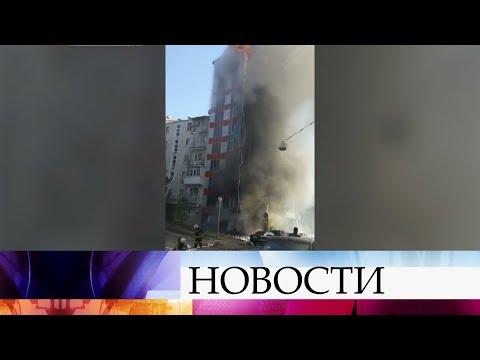 Вцентре Ростова-на-Дону загорелось 10-этажное здание гостиницы.