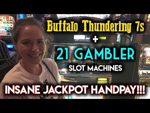 CRAZY JACKPOT HANDPAY! 21 GAMBLER SLOT MACHINE! INSANE RUN!!!