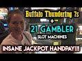 CRAZY JACKPOT HANDPAY! 21 GAMBLER SLOT MACHINE! INSANE RUN!!!