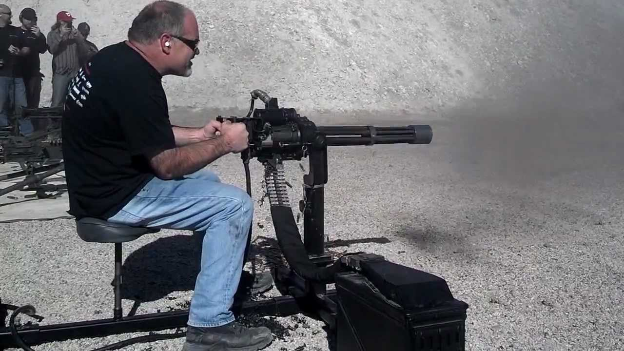 1000 Round Burst M134 Dillon Mini Gun Youtube