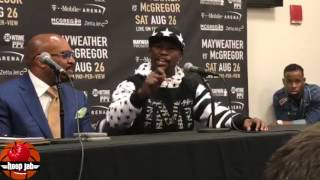 Floyd Mayweather Reacts To  McGregor's Racism, Boy, Black Women, Racism, & Monkeys. HoopJab Boxing