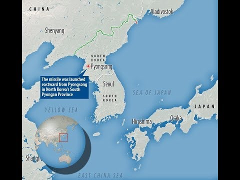 North Korea fires missile over Japan flies for 620 miles – possibly its most powerful yet