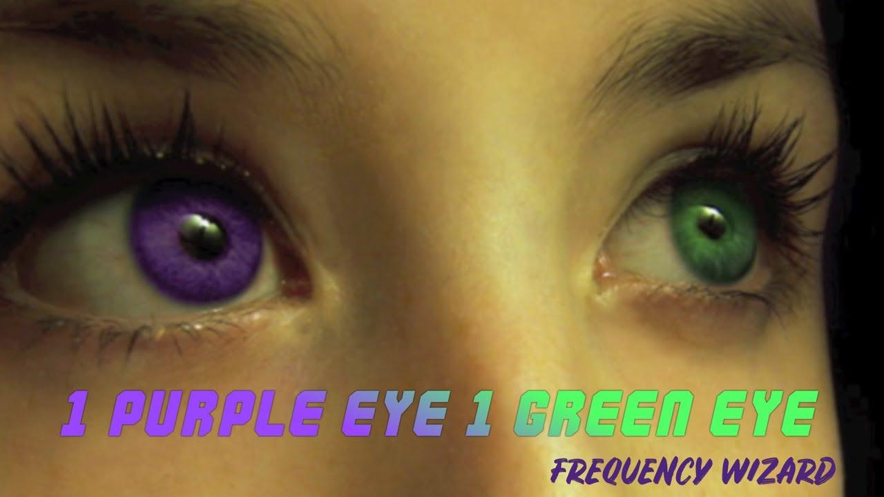 Natural Green Eyes Close Up