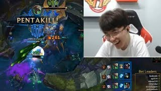 Hilarious Juke From Faker | Doublelift Insane Pentakill And Baron Steal On Korean Server | LoL