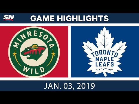 NHL Highlights | Wild vs. Maple Leafs - Jan. 3, 2019