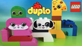 Lego Duplo Zoo Animals Giraffe Caterpillar Cat Dog - Lego Pet By Disneytoysreview
