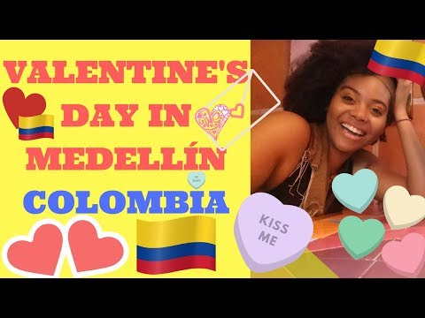 COLOMBIA TRAVEL: VALENTINE'S DAY IN MEDELLIN! ♥️ | BLACK PANTHER MOVIE | Chanelle Adams