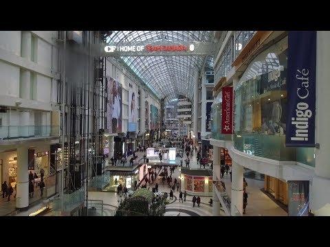 Downtown Toronto CF Eaton Shopping Center 2018 (HD) DJI Osmo+