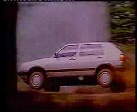VW Golf MK2 advert (the right stuff)