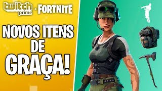 NEW SKIN, PICK, DANCE AND BACKPACK FOR FREE AT FORTNITE! HOW TO CATCH? TWITCH PRIME