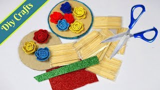 Easy way to use Toothpick into a wall Hanging IToothpick Best Out of Waste Wall Hanging Toran Making