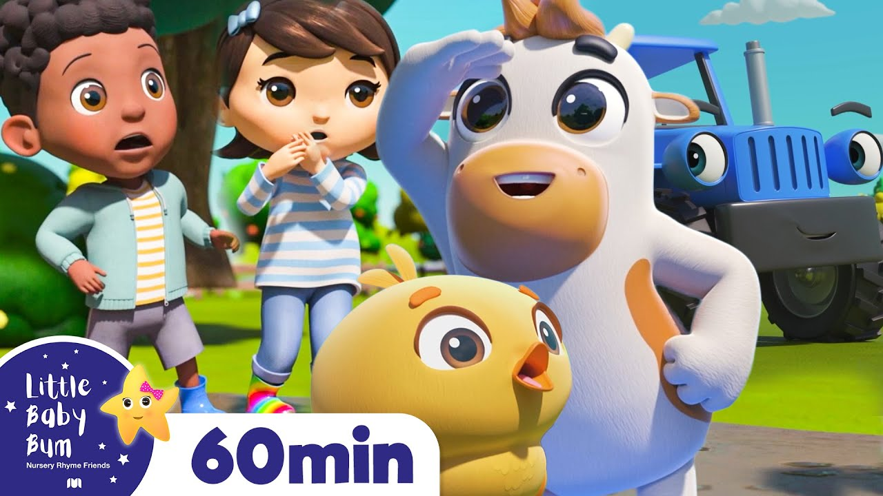 Down At The Farm - Learn Animal Sounds   +More Nursery Rhymes   ABCs and 123s   Little Baby Bum