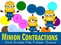 Minion Contactions File Folder Game
