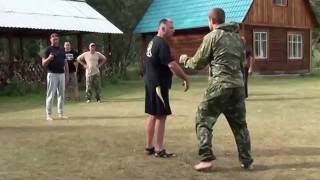 Systema Russian Martial Art - Style Solovyev Protection against intensive punches and kicks