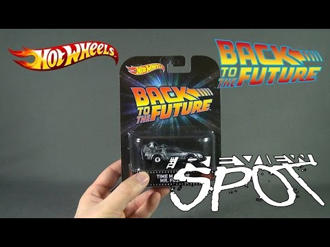 Collectible Spot  Hot Wheels Back to the Future Time Machine Mr Fusion Retro Entertainment Edition