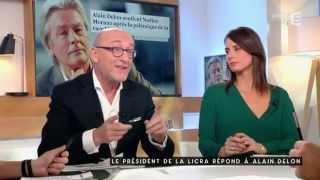 Le Président de la Licra répond à Alain Delon - C à vous - 28/10/2015