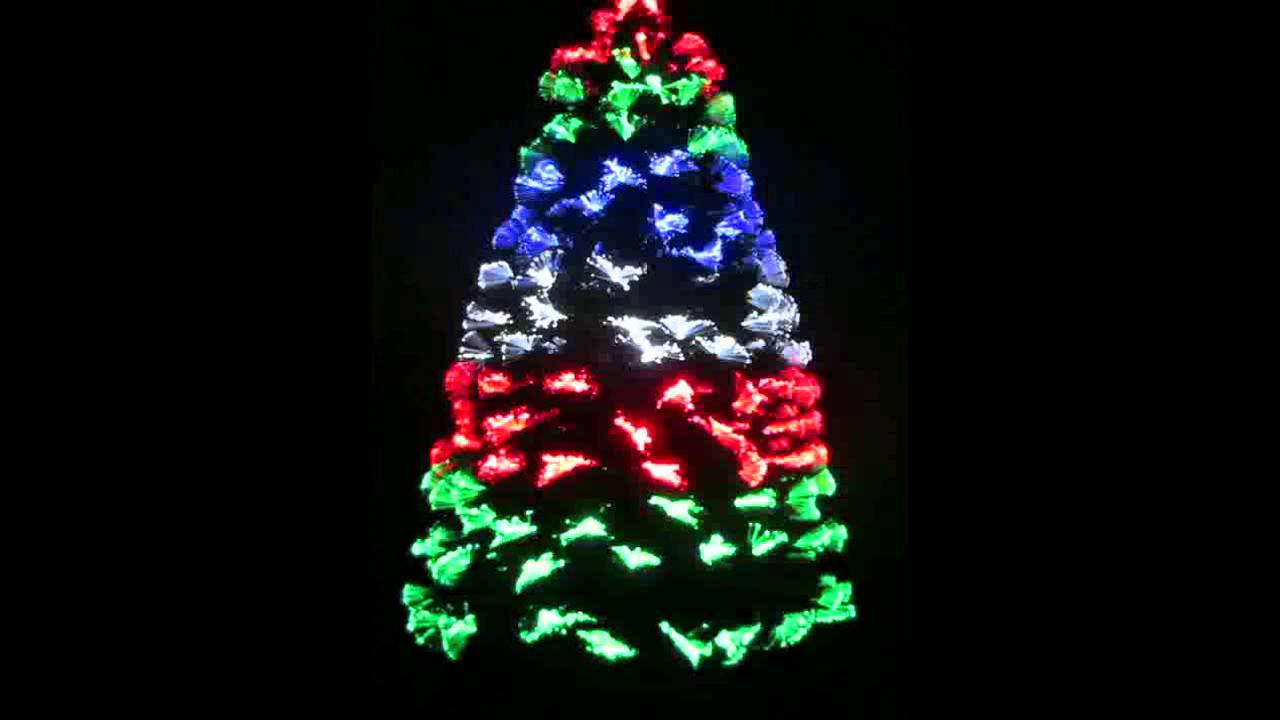 180cm LED Fibre Optic Christmas Tree Multicolour YouTube - 36 Fiber Optic Christmas Tree